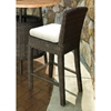 "Outdoor Bay Harbor 28.25"" Wicker Bar Stool - Fabric Cushion"