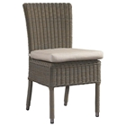 Outdoor Boca Dining Chair - White Fabric Cushion, Gray