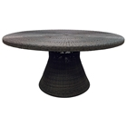 Outdoor Gulf Shore Round Dining Table - All-Weather Wicker