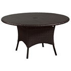 Outdoor Malaga Round Patio Table - Chocolate Wicker