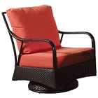 Outdoor Malaga Swivel Rocking Chair - Cushions, Wicker