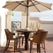 "Palm Beach Outdoor 31.5"" Bar Stool - Cushion, Rattan Weave - PAD-OL-PLB14"