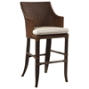 "Palm Beach Outdoor 31.5"" Bar Stool - Cushion, Rattan Weave"