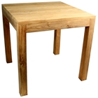Rustic Square Outdoor Dining Table - Teak Wood