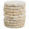 Stone Stack Outdoor Side Table - Round