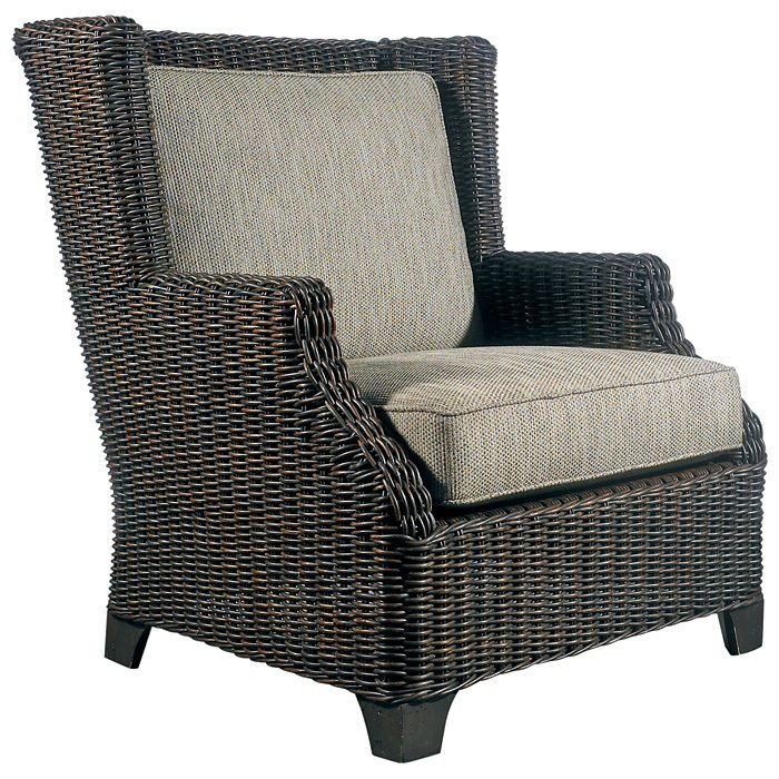 Terrace Outdoor Lounge Chair - Cushions, All-Weather Wicker