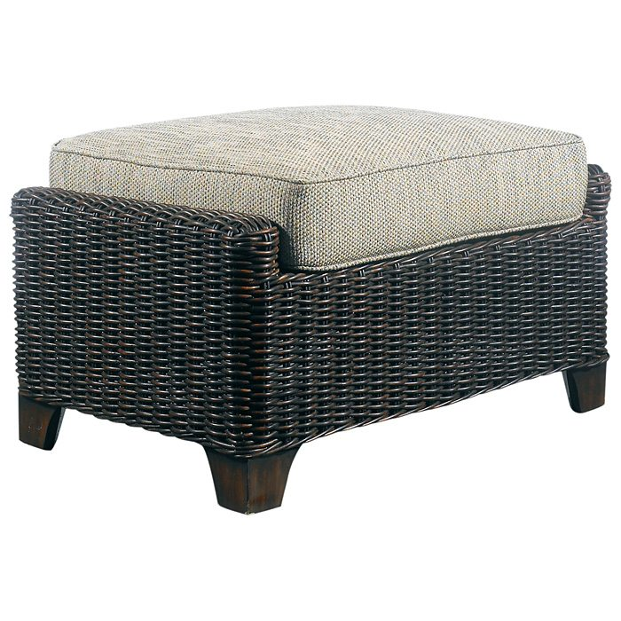Terrace Outdoor Ottoman - Cushion, All-Weather Wicker - PAD-OL-TER02R