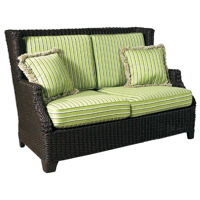 Terrace Outdoor Loveseat - Cushions, All-Weather Wicker - PAD-OL-TER03R