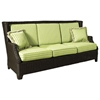 Terrace Outdoor Sofa - Cushions, All-Weather Wicker