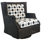 Terrace Outdoor Swivel Rocker - Cushions, All Weather Wicker