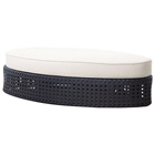 Tides Outdoor Oval Ottoman - Cushion, Octagonal Weave