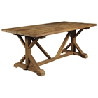 Xena Reclaimed Teak Wood Dining Table - Rectangle