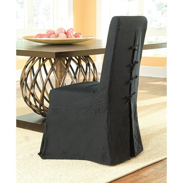 Pacific Beach Dining Chair - Black Slipcover - PAD-PCB12-BLK