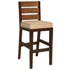 "Park Avenue 31.5"" Bar Stool - Rattan Slats, Seat Cushion"