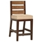 "Park Avenue 25.5"" Counter Stool - Rattan Slats, Seat Cushion - PAD-PRK16"