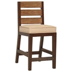 "Park Avenue 25.5"" Counter Stool - Rattan Slats, Seat Cushion"