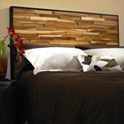 Reclaimed Teak Wood Headboard - Natural, Dark Stained Frame