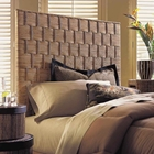 Rattan Weave Queen Size Headboard - Natural Finish