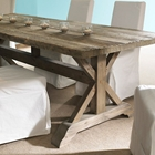 Salvaged Wood Rectangular Dining Table - Natural, Trestle Base