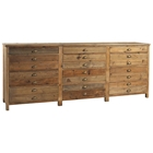 Salvaged Wood Printmakers Sideboard - 12 Drawers