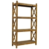 Salvaged Wood 3-Shelf Bookcase - Natural, X Sides