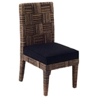 Solstice Dining Side Chair - Abaca Weave, Cushion