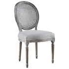 Sunset Beach Oval Back Dining Chair - Woven Cane, Sand Linen