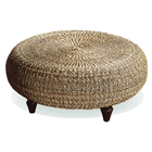 Tropical Round Ottoman / Coffee Table - Natural Banana Fiber