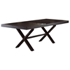 X Rectangular Dining Table - Extension Leaf, Dark Finish