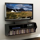 Altus Black Wall Mounted Audio Video Console