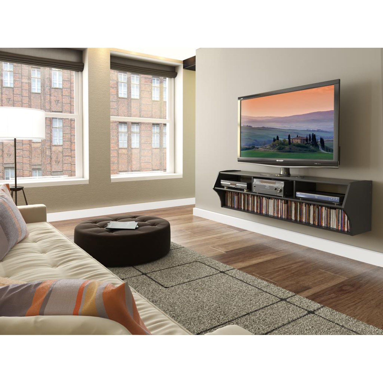 Altus Plus 58 Inch Floating TV Stand - Black - PRE-BCAW-0208-1
