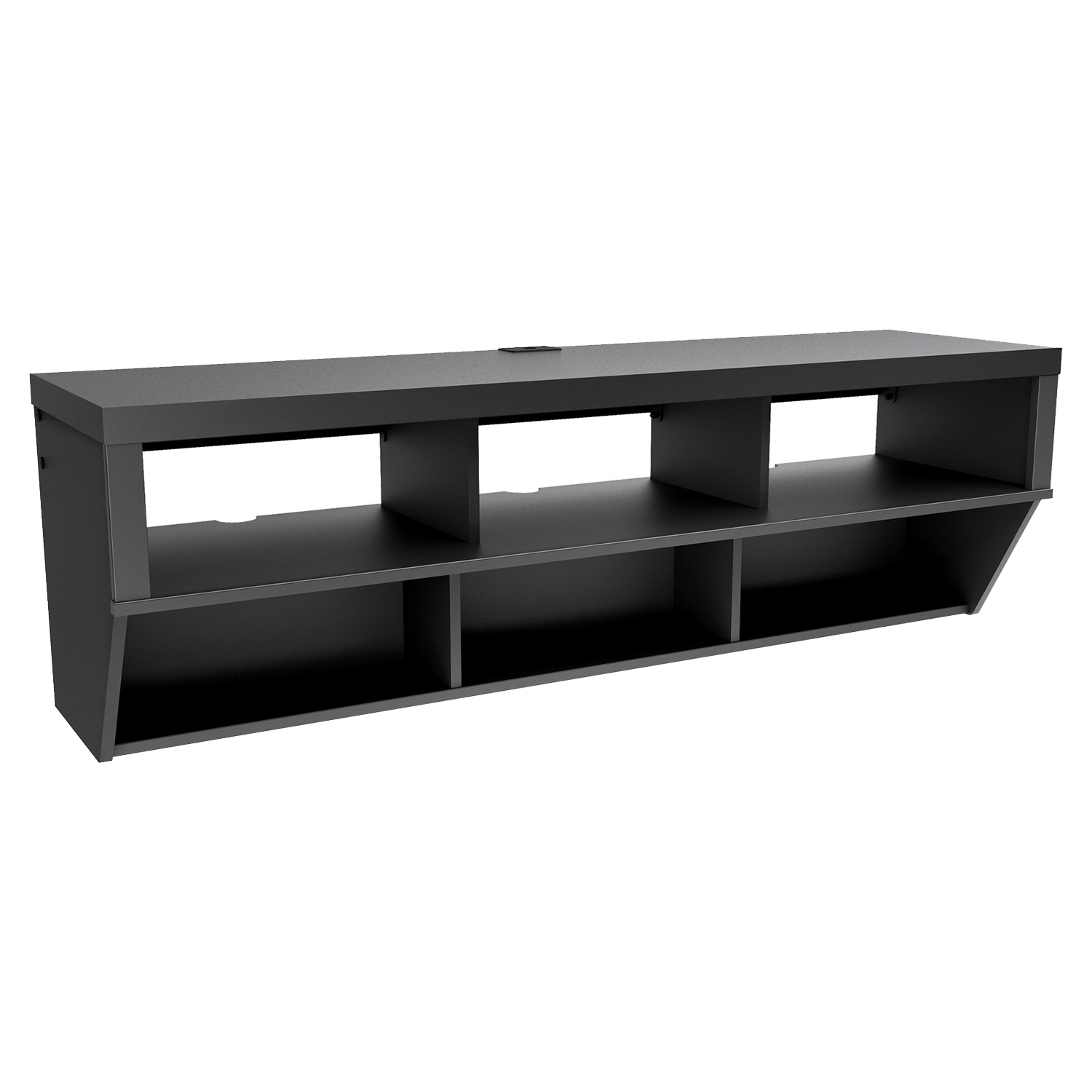 Series 9 Designer 58 Inch Wide Wall Mounted Audio Video - Black