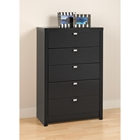 Series 9 Designer 5-Drawer Chest - Black