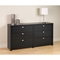 Series 9 Designer 6-Drawer Dresser - Black - PRE-BDBR-0560-1