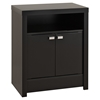 Series 9 Designer 2-Door Tall Nightstand - Black