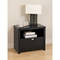 Series 9 Designer 1-Drawer Nightstand - Black - PRE-BDNR-0510-1
