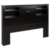 Kallisto Black Bookcase Headboard with Doors