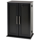 Garrett Locking Media Storage Cabinet with Shaker Doors