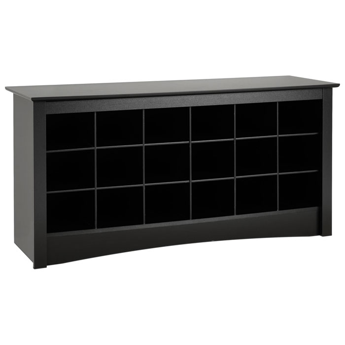 Sonoma Black Shoe Storage Cubbie Bench