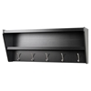 Floating Entryway Shelf and Coat Rack - Black