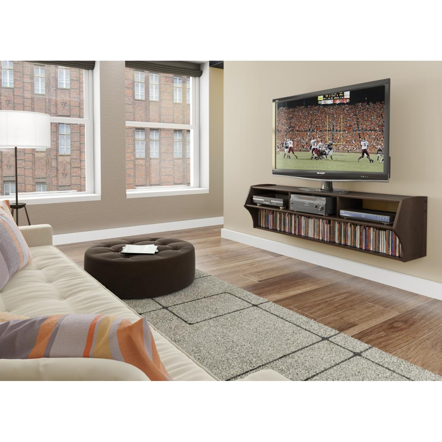 Altus Plus 58 Inch Floating TV Stand - Espresso - PRE-ECAW-0208-1