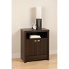 Series 9 Designer 2-Door Tall Nightstand - Espresso