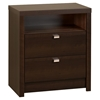 Series 9 Designer 2-Drawer Tall Nightstand - Espresso