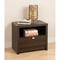 Series 9 Designer 1-Drawer Nightstand - Espresso - PRE-EDNR-0510-1
