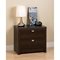 Series 9 Designer 2-Drawer Nightstand - Espresso - PRE-EDNR-0520-1