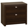 Series 9 Designer 2-Drawer Nightstand - Espresso