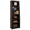 Indra Espresso Tall Slant-Back Bookcase