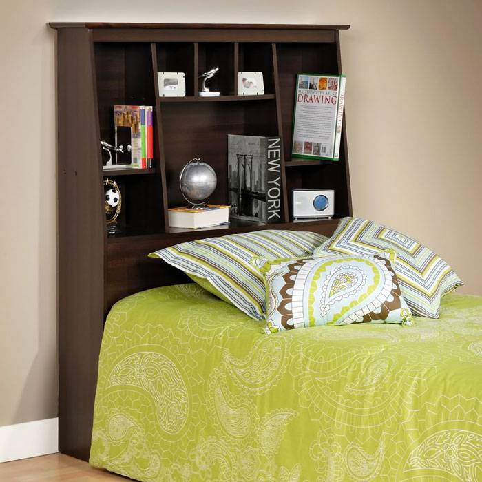 Sonoma Tall Slant-Back Twin Bookcase Headboard - PRE-XSH-4556