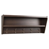 Floating Entryway Shelf and Coat Rack - Espresso