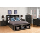 District Queen Platform Bedroom Set - Washed Black